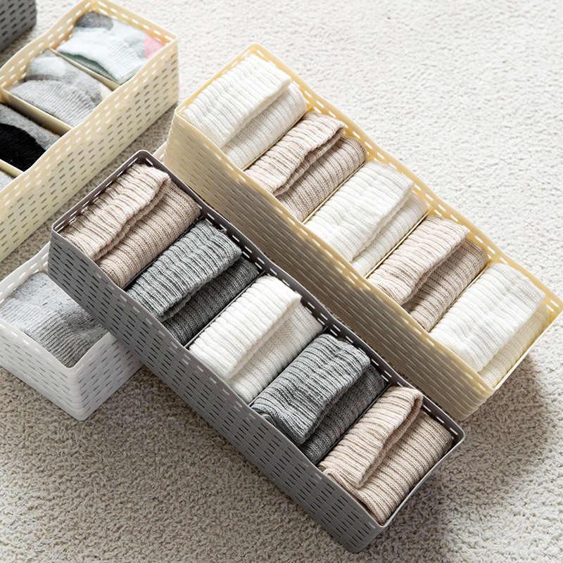 Hoomall 5 Grids Unterwäsche Socken Bh Lagerung Organisatoren Kleiderschrank Lagerung Box Korb Hause Desktop Kunststoff Box Container Sarg