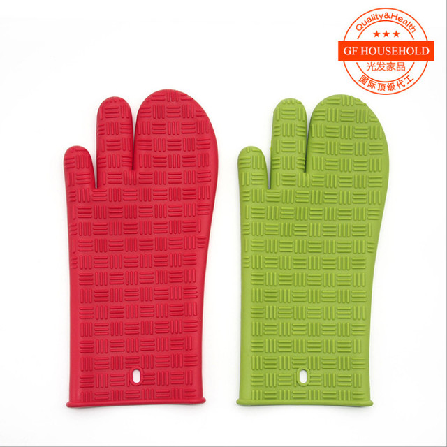 Top Quality1pcsHeat Resistant Silicone Glove Cooking Baking BBQ Oven Pot  Holder Mitt Kitchen Anti Slip
