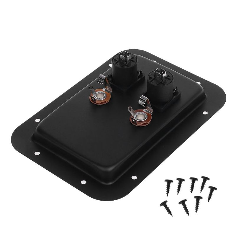 Junction Box 4-Core Socket Jack Plate Terminal Binding Post Dual Speakon Input PA DJ Speaker Cabinet