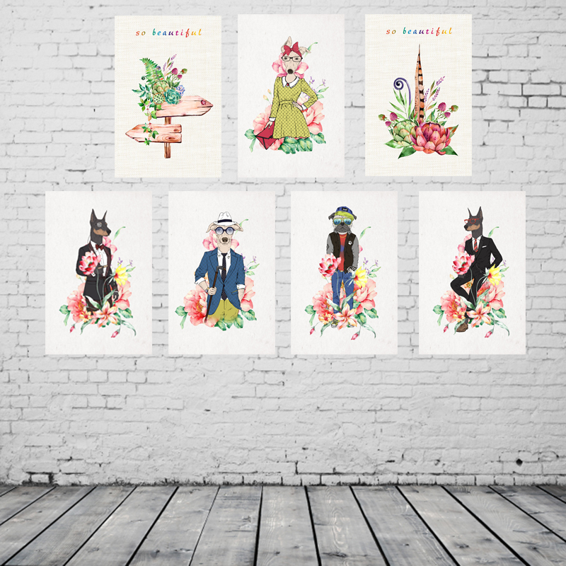 Vintage Home Decor Gentleman Animal Vintage Metal Signs Home Decor Plaques  U0026 Signs Home Decor Plates Retro Size:20*30cm In Plaques U0026 Signs From Home  ...