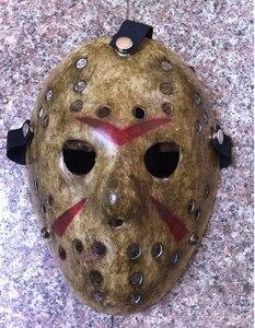 Image 2 - 1pcs/lot Black Friday NO.13 Jason Mask Voorhees Freddy hockey festival party Halloween masquerade (adult size) Masks 100gram