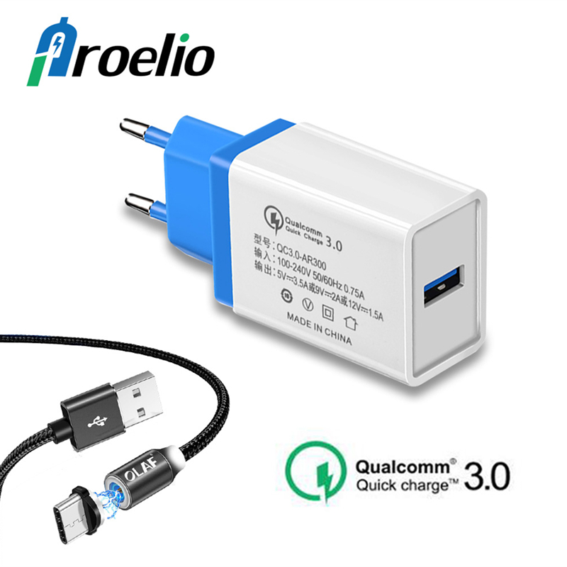 Proelio Quick Charge 3.0 <font><b>USB</b></font> <font><b>Charger</b></font> For iPhone 6S 7 8 Plus X Fast <font><b>USB</b></font> Phone <font><b>Charger</b></font> <font><b>Wall</b></font> Adapter For Xiaomi Redmi Note 7 Mi 8 9 image