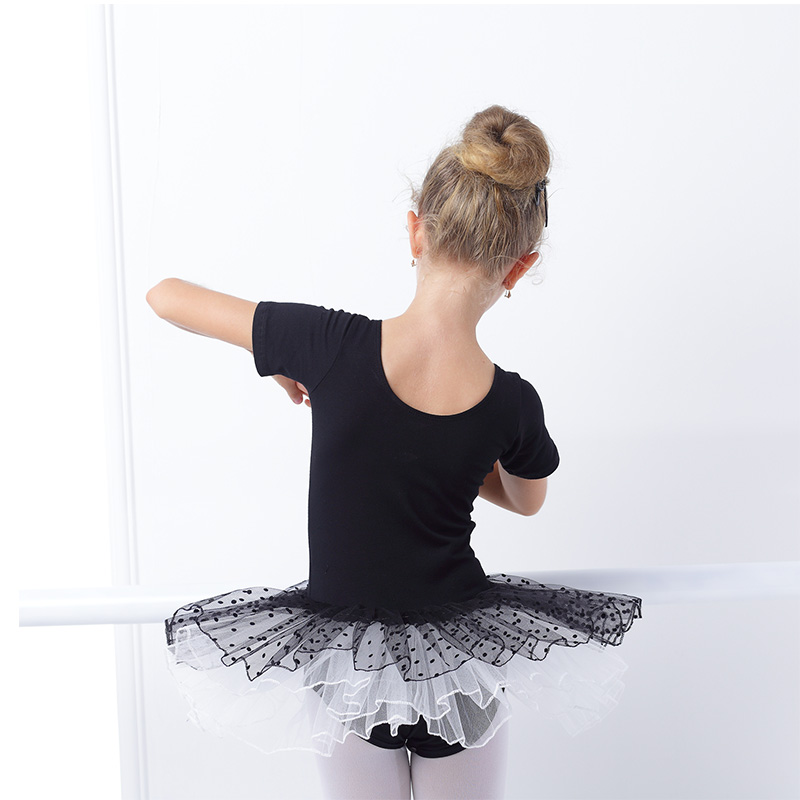 0fc7160df524 Hot Sale Girls Kids Black Swan Ballet Leotard Tulle Skirt Cute ...