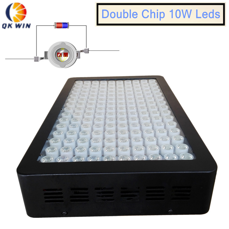 Qkwin Best 1600W LED Grow Light 160x10w double chip 370W built with lens Full Spectrum for Hydroponic Planting shipping