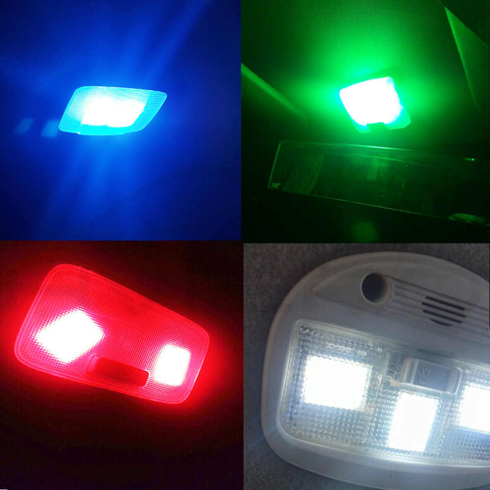T10 COB W5W Auto Interior Lampu Baca Lampu Langit-langit 16/24/36/48 SMD LED Panel Mobil lampu LED Memperhiasi Dome BA9S 3 Adaptor DC 12V