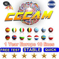 2019 Stable fast Free test Cccam 7/10lines Europe Server HD Support Italy Spain Arabic Cline DVB-S2 Satellite Receiver