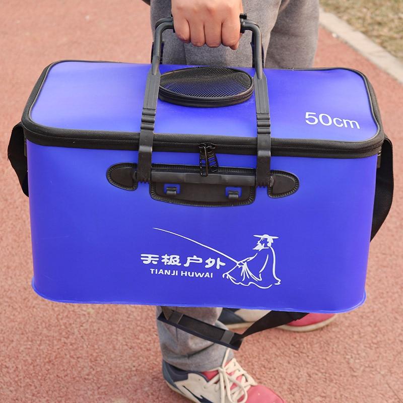 High Quality 3 Color 30 35 40 45 50cm Outdoor EVA Bucket Folding Bucket Portable Camping
