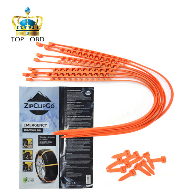 Practical ZipClipGo Emergency Traction Aid Snow in mud for cars SUV and trucks