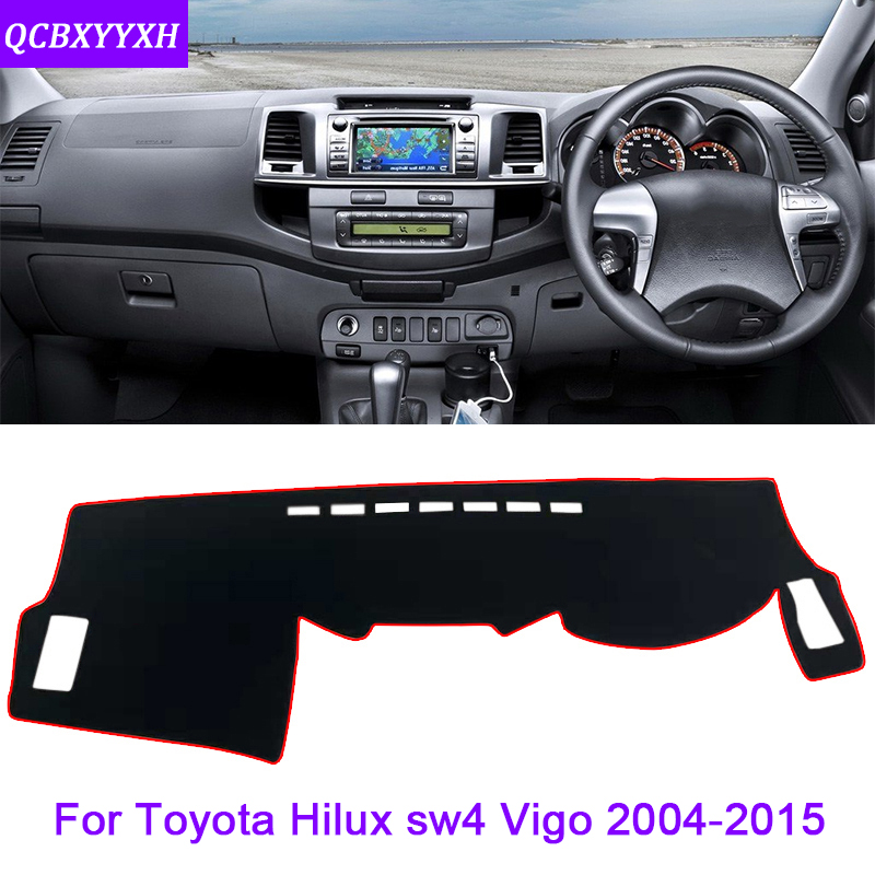 Car Styling For Toyota Hilux sw4 Vigo 2004 2015 Rose Pattern Dashboard Mat Protective Interior Photophobism