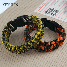 Bracelet Bangles Wristband-Rope Jewelry Survival-Paracord Hiking-Buckle Outdoor Trendy