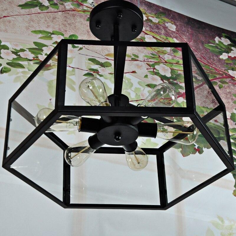 Shop For Cheap Vintage Country Glass Lampshade Pendant Light Retro Pendant Lamp Lustres Fixtures Hexagonal Geometry Droplight Lights & Lighting Pendant Lights