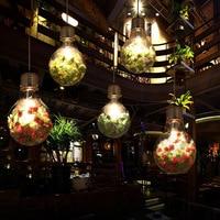 Creative personality pendant lights iron glass big bulb vintage lamp bar Russian warehouse large pendant E27 lamps