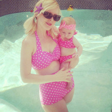 High Waist Bikini Swimsuits Mommy and Me Clothes Family Look Mother Daughter Swimwear Mom Daughter Girl Matching Bathing Dress mother daughter swimsuits family look mom and daughter swimwear unicorn family matching bathing suit mommy and me bikini clothes