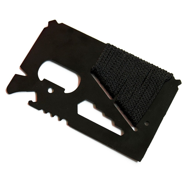 Credit Card Size Multifunctional Pocket Hunting Knife Kit 4