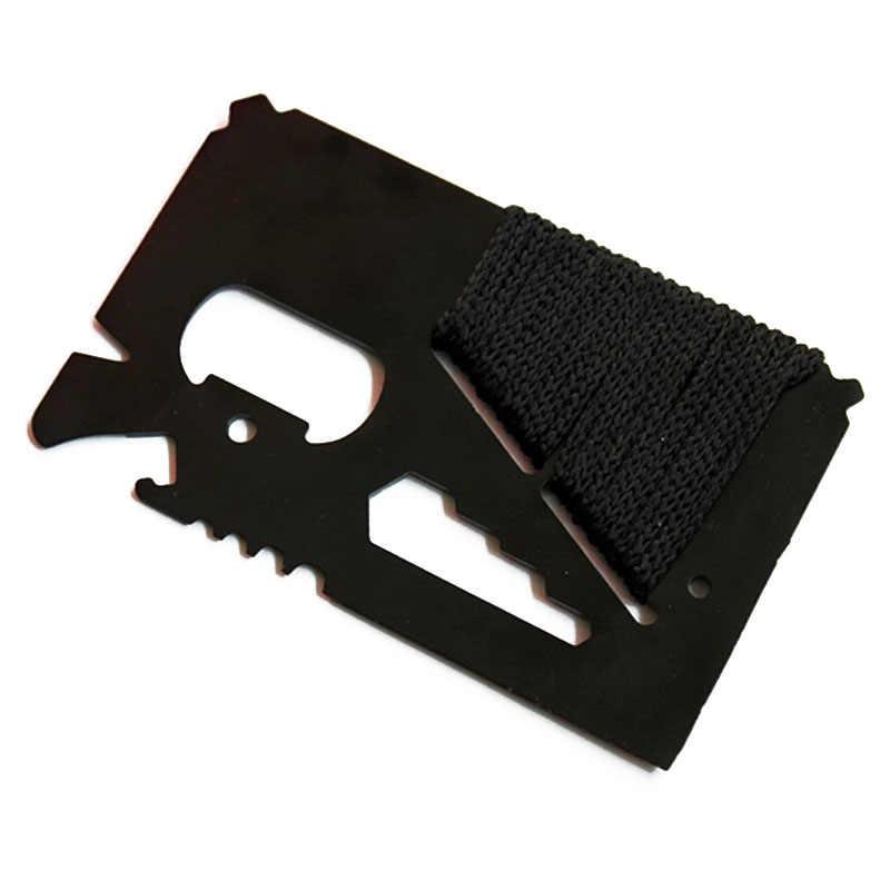 EDC karta kredytowa wielofunkcyjna kieszeń nóż myśliwski Outdoor Sports Camping piesze wycieczki SOS Survival Rescue narzędzia do obsługi awaryjnej MJ