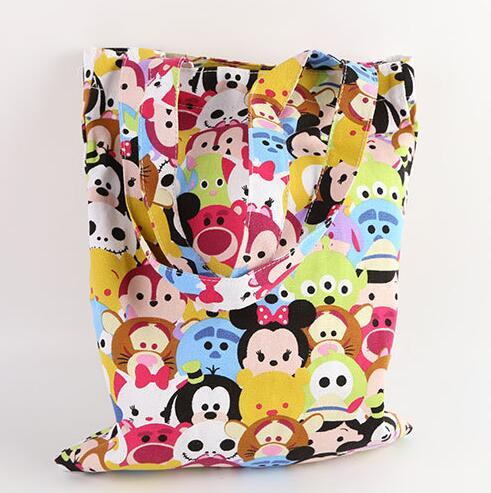 TSUM Mickey Minnie small canvas shopping bag Shoulder  bags daily Pouch Outgoing packets Doll Accessories 20150804