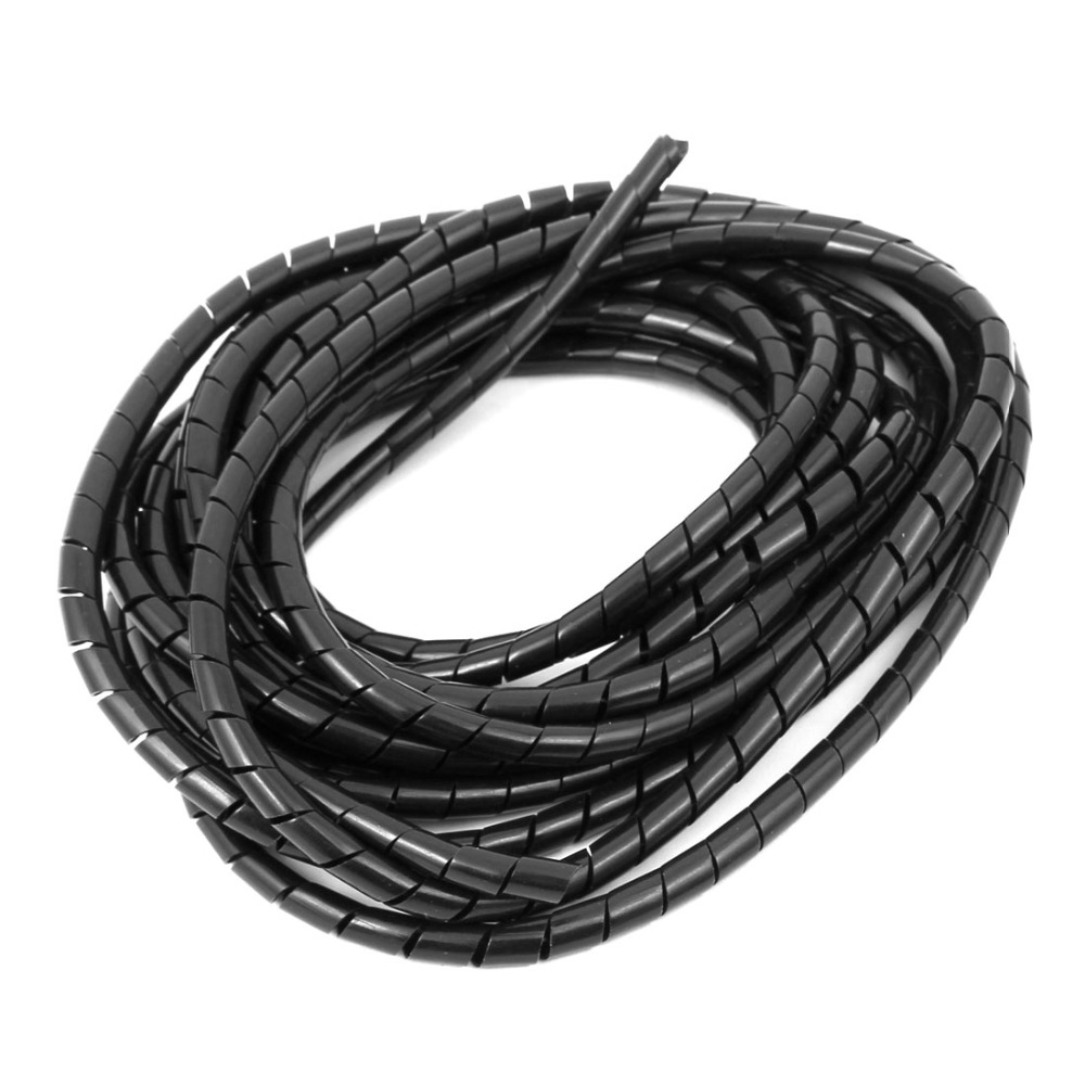 UXCELL 4mm Inner Diameter Spiral Wire Organizer Wrap Tube Flexible Manage Cord For Harnessing Multiple Cables