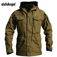 aichAngeI Army Clothes Tactical Windbreaker Men Winter Autumn Thermal Flight Pilot Coat Male Hoodie Military Field Jacket