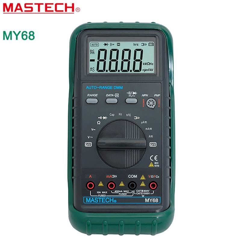 1PC MASTECH MY68 Digital Multimeter Electronic handheld multimeter 3 3/4 LCD 3999 Counts Auto Ranging AC DC Digital Multimeter  цены