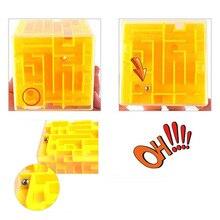Фантастический Магический кубик, лабиринт, игра для детей, лучший подарок на день рождения, Классические игрушки для обучения и обучения, без наклеек, Кубик Рубика, 3D лабиринт