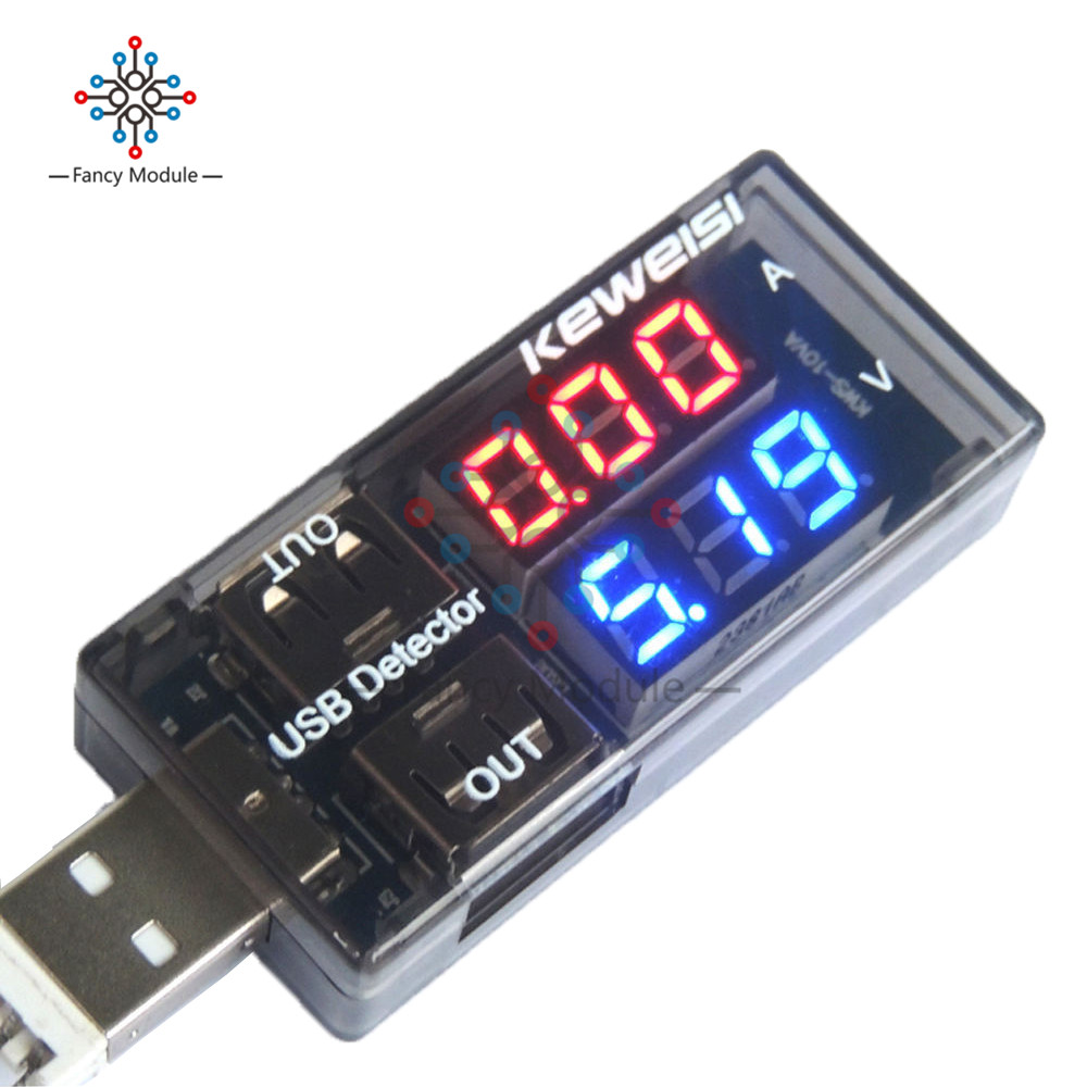 Red+Blue Dual USB Current Voltage Charging Detector Tester Battery Voltmeter Ammeter Charger Doctor usb current voltage charging detector mobile power current and voltmeter ammeter voltage usb charger tester double row shows h7 page 8