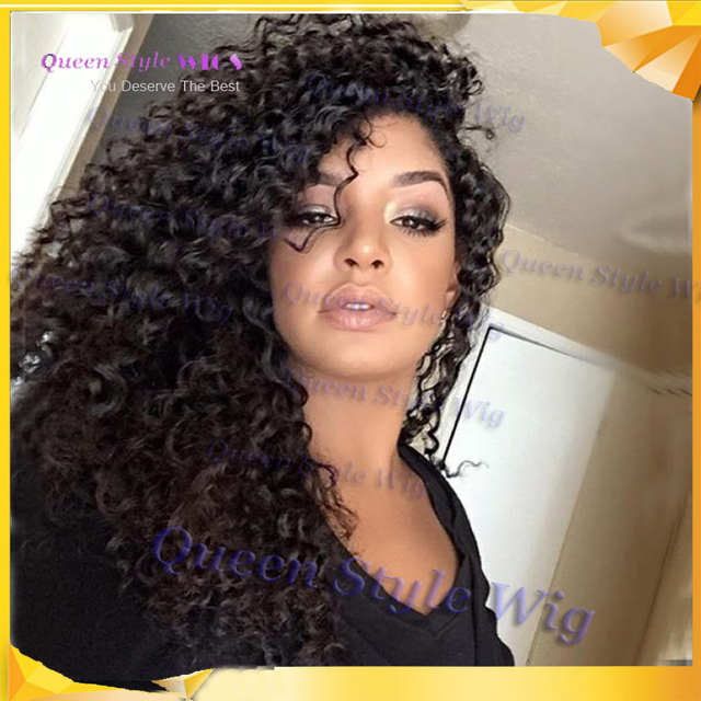 Synthétique Twist Cheveux Bouclés Avant De Lacet Perruque Afro