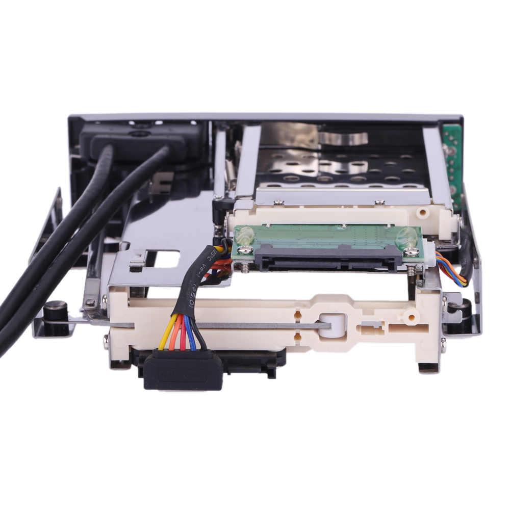 """2018 Dual BAY 3.5 """"+ 2.5"""" Inch Sata III HDD & SSD Khay Caddy Nội Bộ Di Động giá đỡ Kèm với Cổng USB 3.0 Trao Đổi Nóng"""