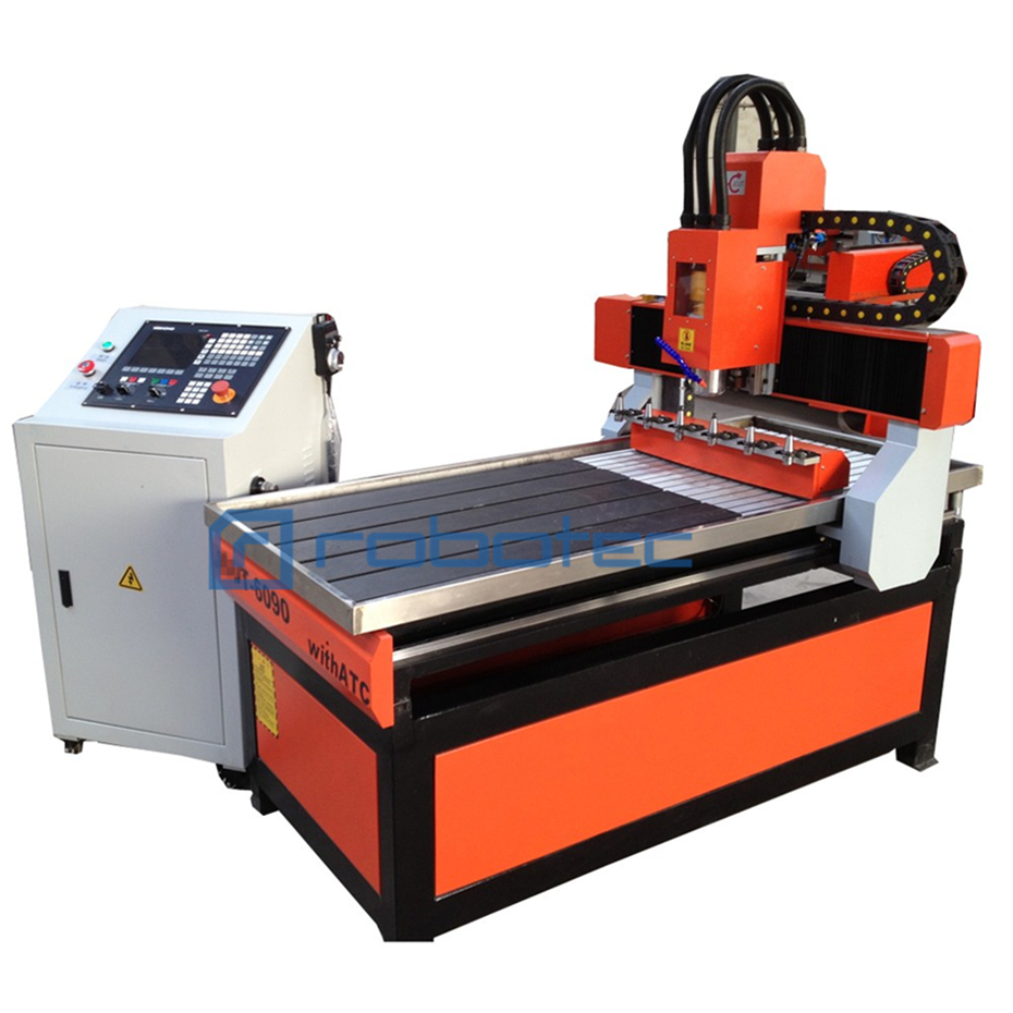China Factory <font><b>Cnc</b></font> milling machine <font><b>6090</b></font> <font><b>Cnc</b></font> <font><b>Router</b></font> with 2.2Kw <font><b>ATC</b></font> Spindle 3 Axis <font><b>Cnc</b></font> Engraving Cutting Machine By Sea Shipping image