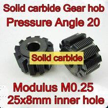 M0.25 модуль давления угол 20 твердосплавные шестерни варочная панель 25x8 мм Внутреннее отверстие 1 шт
