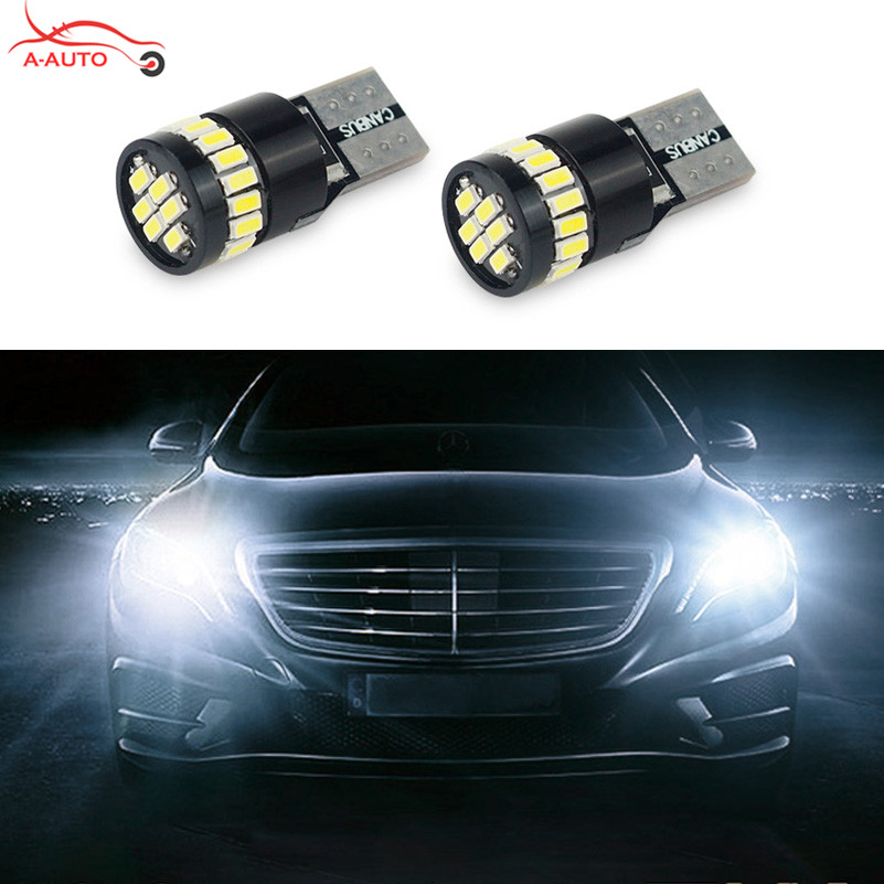 2x t10 w5w car led 12v lamp canbus parking clearance for Led light for mercedes benz