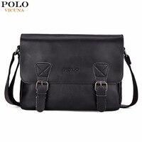 VICUNA POLO Fashion Leather Men Satchel Shoulder Bag High Quality Men Messenger Bag Casual Business Travel