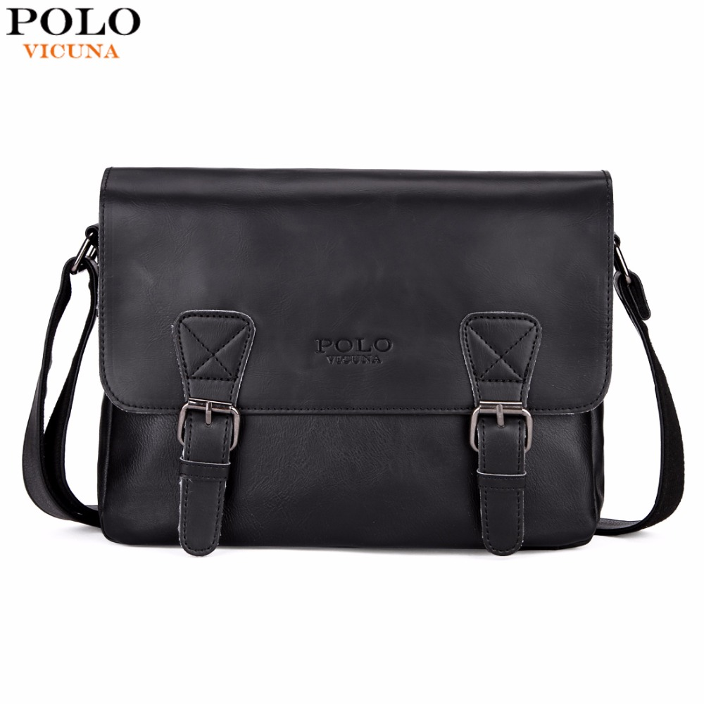 VICUNA POLO Fashion Leather Men Satchel Shoulder Bag High Quality Men Messenger Bag Casual Business Travel Crossbody Bag For Man jason tutu promotions men shoulder bags leisure travel black small bag crossbody messenger bag men leather high quality b206