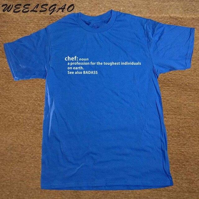 hot sale online 588e5 a2645 US $8.41 42% OFF Chef Definition Badass Geschenk Lustige Erwachsene T Shirt  Druck Neue Sommer Stil Baumwolle Kurzarm T Hemd in Chef Definition Badass  ...