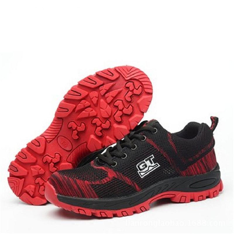Mens Multifuncional Calzado Calçados Respirável Preto Seguridad Com De Sapatos azul Moda vermelho Ao Aço Segurança Biqueira Ar Trabalho Proteção Livre qrq61wf
