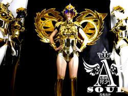 Мода Виктория подиумный показ модель позолота платье для танцев крылья костюмы бар КТВ сцены Костюмы вечерние поставки