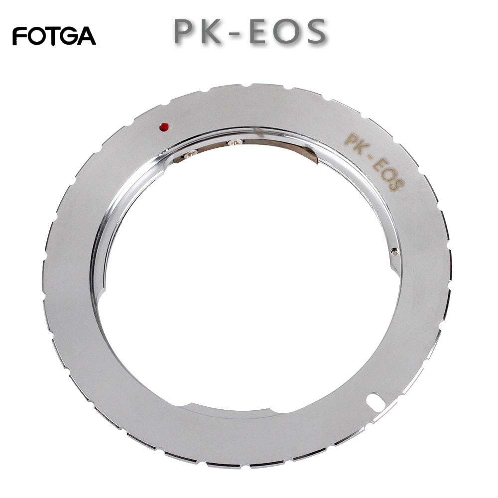 Bague adaptateur de montage FOTGA pour objectif Pentax PK vers Canon EOS 760D 750D 800D 1300D 70D 7D II 5D III