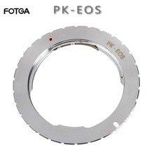 FOTGAอะแดปเตอร์แหวนสำหรับPentax PK LENS TO Canon EOS 760D 750D 800D 1300D 70D 7D II 5D III