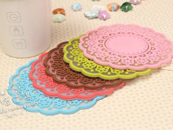 Silicone Coaster Lace Style Tea Coaster Cup Mat/ glass napkin/ Mother Day Gift