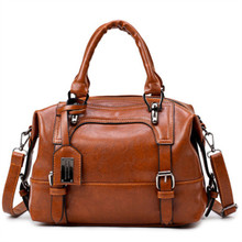 2008 New Oil Wax Woman  Soft Leather Hand Shoulder European and American Fashion Slant bag