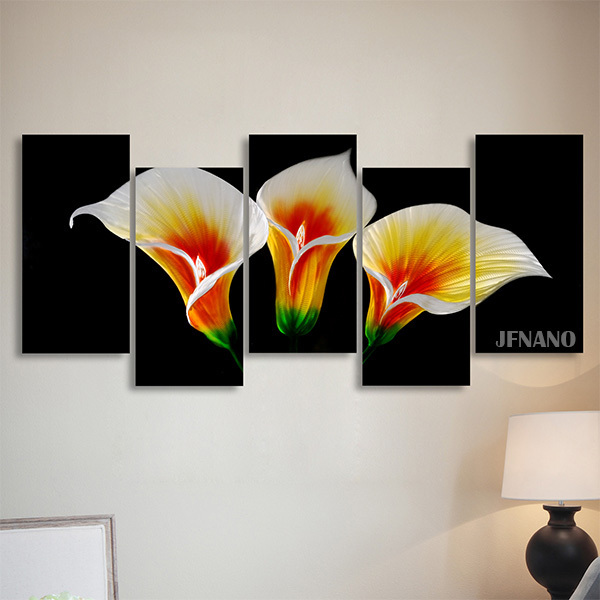 Free Shipping Christmas Home Decoration Wall Art Metal Paintings Wall  Painting Flower Wall Pictures For Living