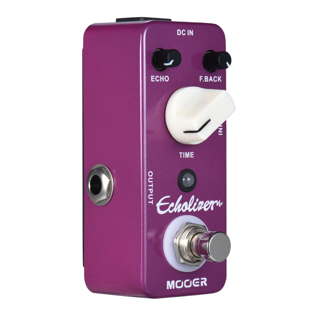 MOOER Echolizer Delay Guitar Effect Pedal True Bypass Full Metal Shell 25ms 600ms delay time