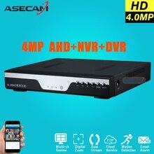 Súper 8CH AHD DVR Grabadora de Vídeo Digital de $ number MP para CCTV Cámara de seguridad Onvif de Red IP de 16 Canales HD 1080 P NVR de Correo Electrónico alarma