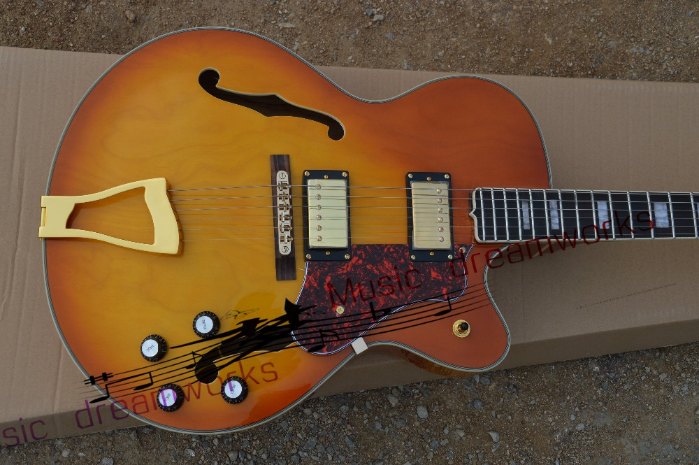 China Top quality firehawk OEM shop L5 Electric hollow jazz guitar Jazz is drawing board , Electric Guitar EMS free shipping new l5 jazz guitar yellow maple top jazz hollow body electric guitar a pickup free shipping