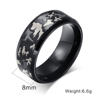 USA UK Canada Russia Brazil Hot Sale 8MM Three Color Laser Camouflage Shiny Blue Dome