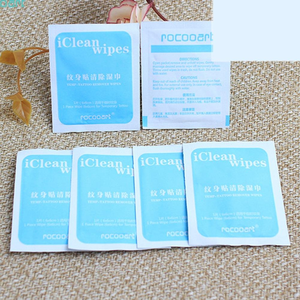BellyLady Alcohol-free Temporary Tattoo Cleaning Wipes Tissue Disposable Makeup Easy Tools (60*60mm)