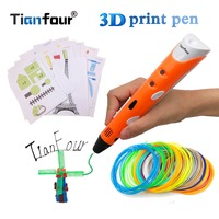 Tianfour   3d     pen   RP-100A   3d     pens   with 25m/50m/100m ABS filament   3d   printed   pen   for kids birthday gift paper model Drawing Tools
