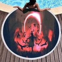 3d Printing Science Fiction Movie Round Beach Towel Mandala Cartoon Soft Beach Towel for Bedroom Decoration Swimming Bath Towel