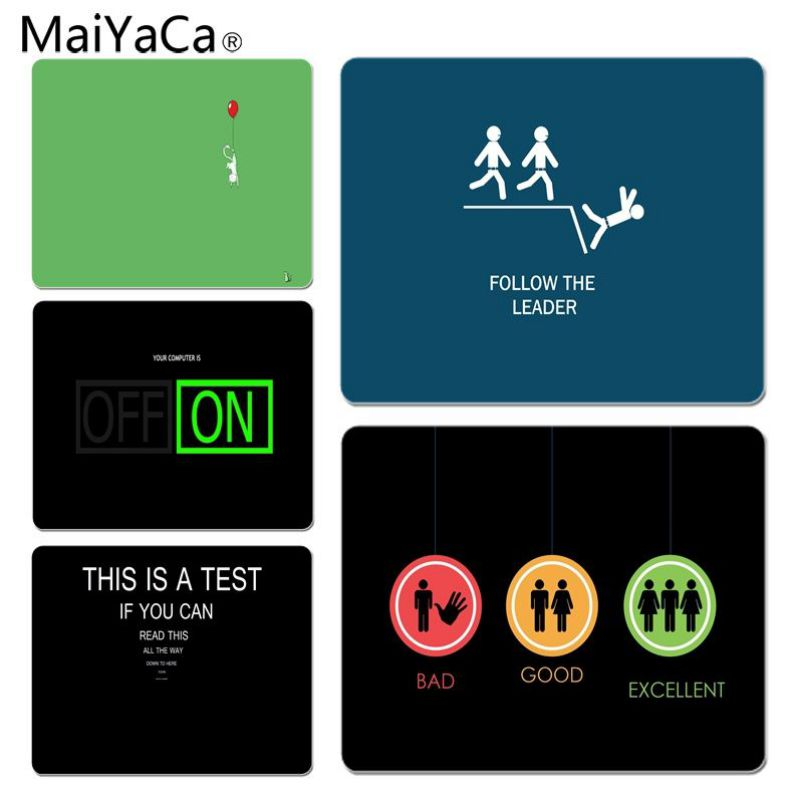 MaiYaCa Funny Large Lockedge Mouse pad PC Computer mat Size for 25x29x0.2cm Gaming Mousepads
