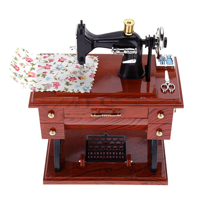 font b Music b font Sewing Machine Exquisite font b Box b font Musical Vintage