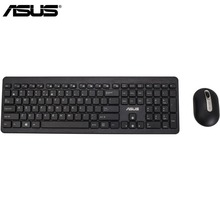 Asus Original W2000 Ultra Slim 2.4GHz Wireless Keyboard + Wireless Mouse Gaming Set Portable Computer Keyboard with 104 Keys